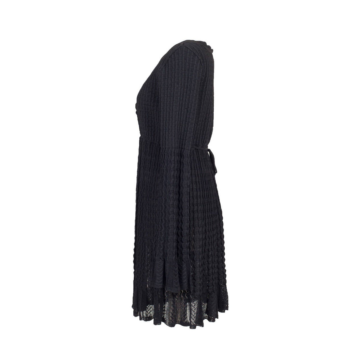 Alaia Black Knit Top Dress 1992 4