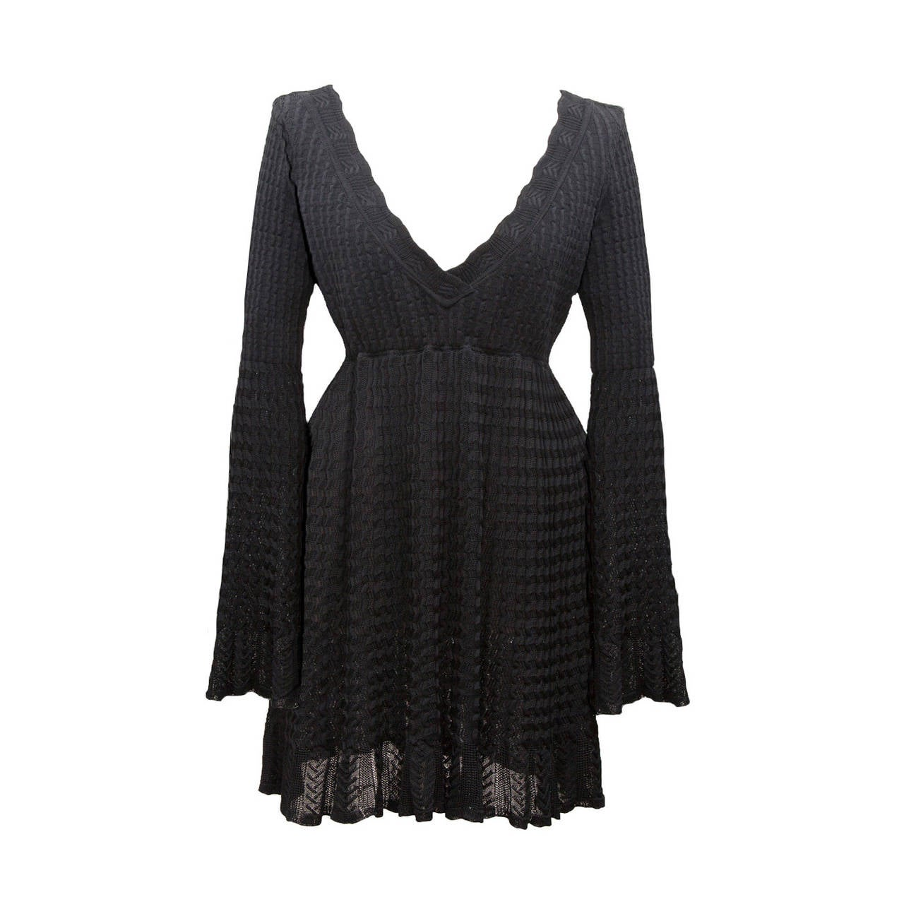Alaia Black Knit Top Dress 1992 1