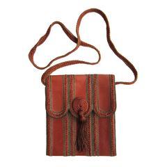 Emanuel Ungaro Leather Purse Tassel Bag 1970's