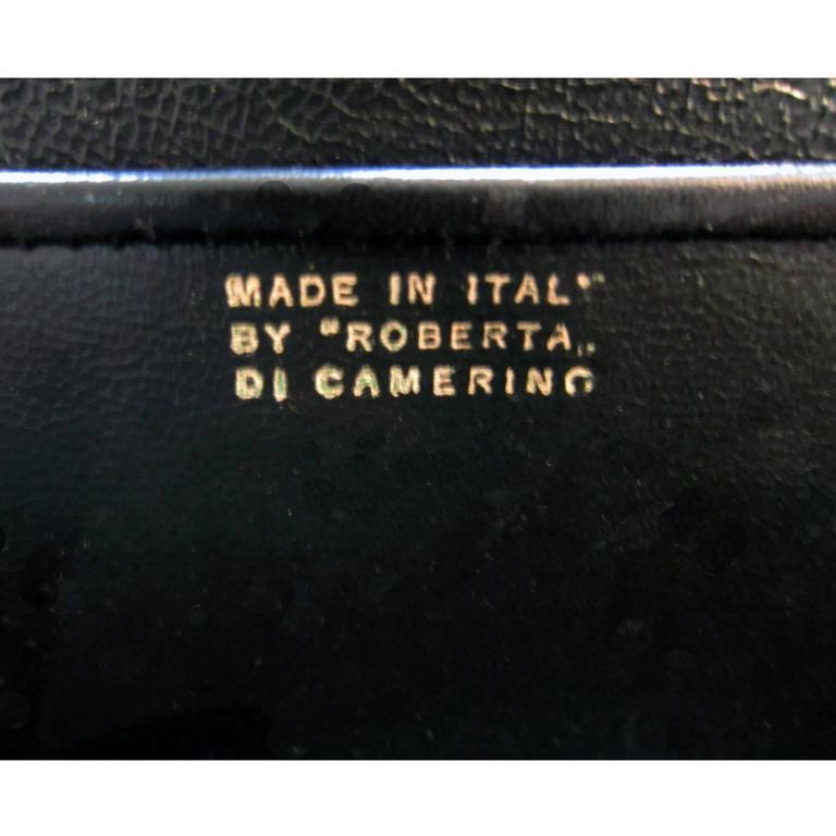 Women's Roberta Di Camerino Venice Purple Velvet Bag Purse 1960s  For Sale