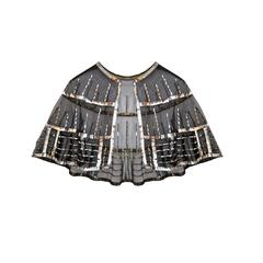 Art Deco Silver Sequins Cape circa 1920s