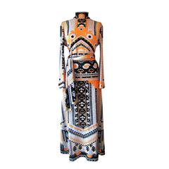Lanvin Dress Multi Colour 1970s