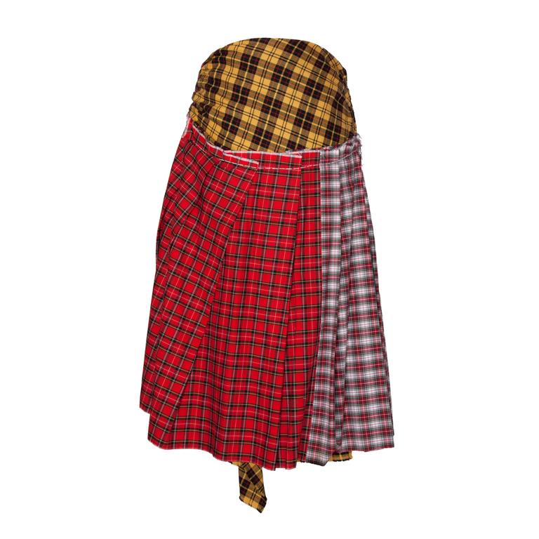 Comme des Garcons Plaid Skirt AD 2005 In Excellent Condition For Sale In Berlin, DE