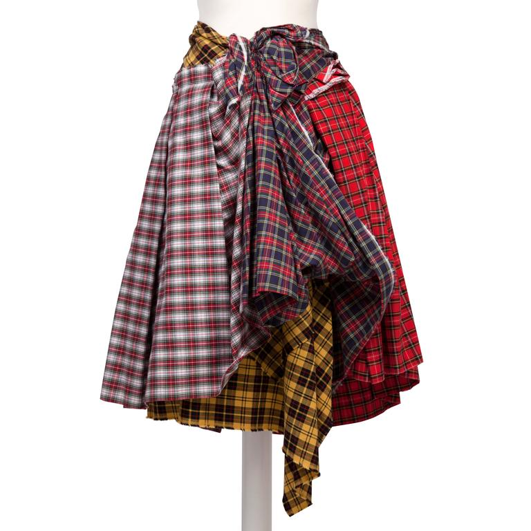 Women's Comme des Garcons Plaid Skirt AD 2005 For Sale