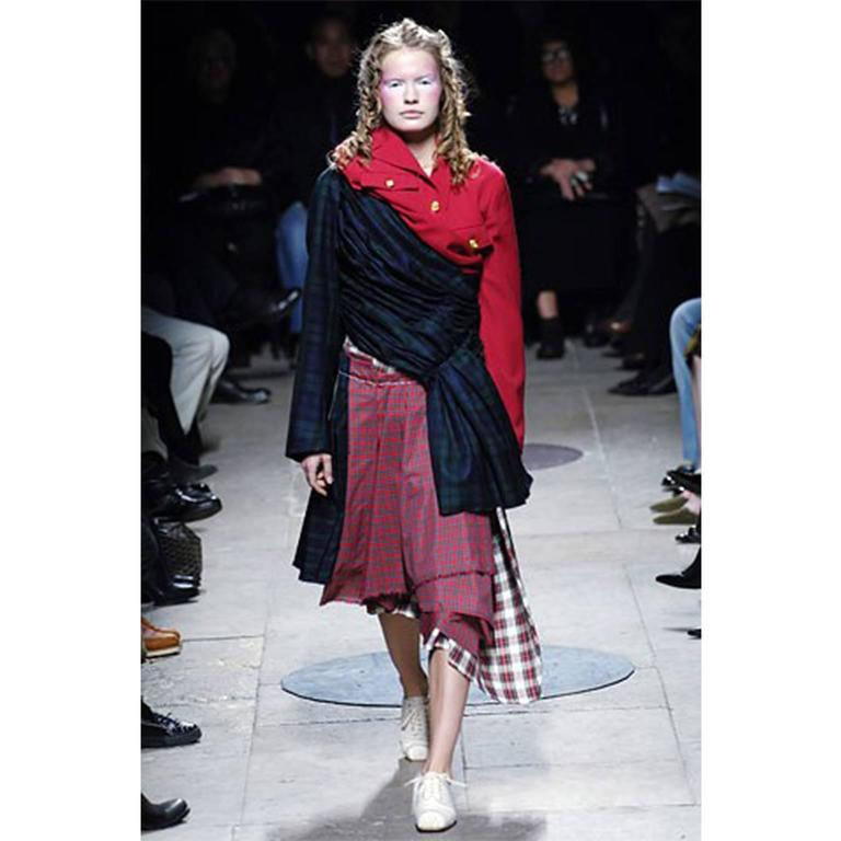 Comme des Garcons Plaid Skirt AD 2005 For Sale 4