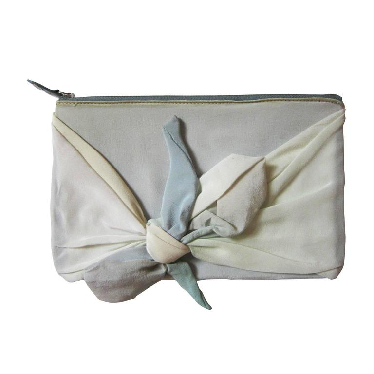 Martin Margiela Leather Pastel Silk Purse Pouch
