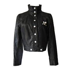 Courreges Black Vinyl Jacket