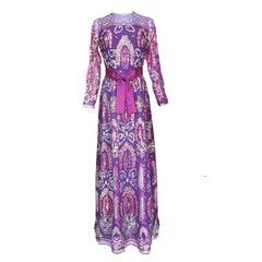 Christian Dior Haute Couture Pailletten Abendkleid AW 1971