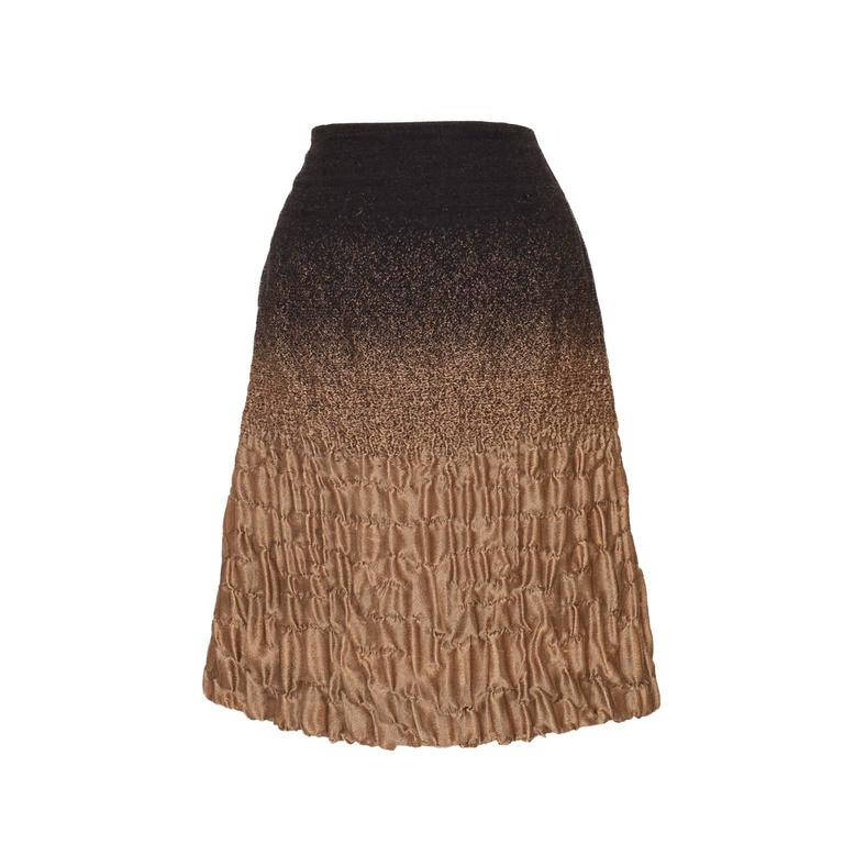 Prada Gold Brown Skirt Collection AW 2007 at 1stdibs
