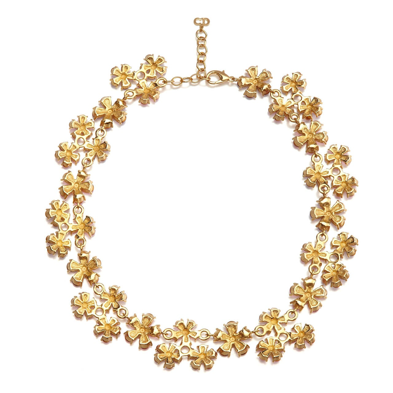 Vintage Christian Dior Floral Necklace 4