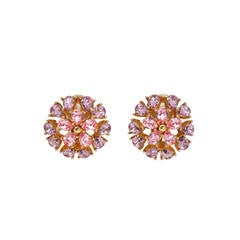 Vintage Christian Dior Pink Floral Earrings