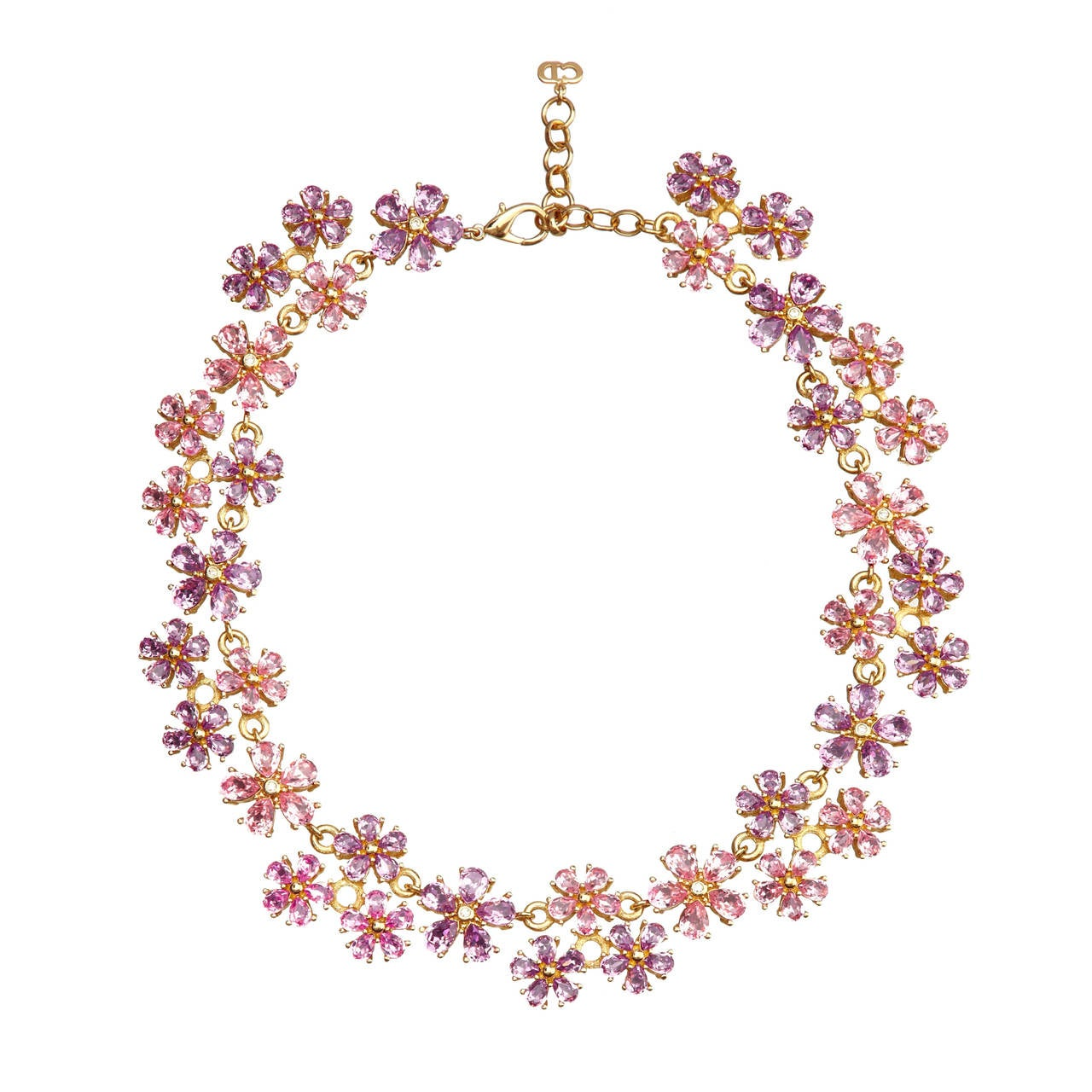 Vintage Christian Dior Floral Necklace 1