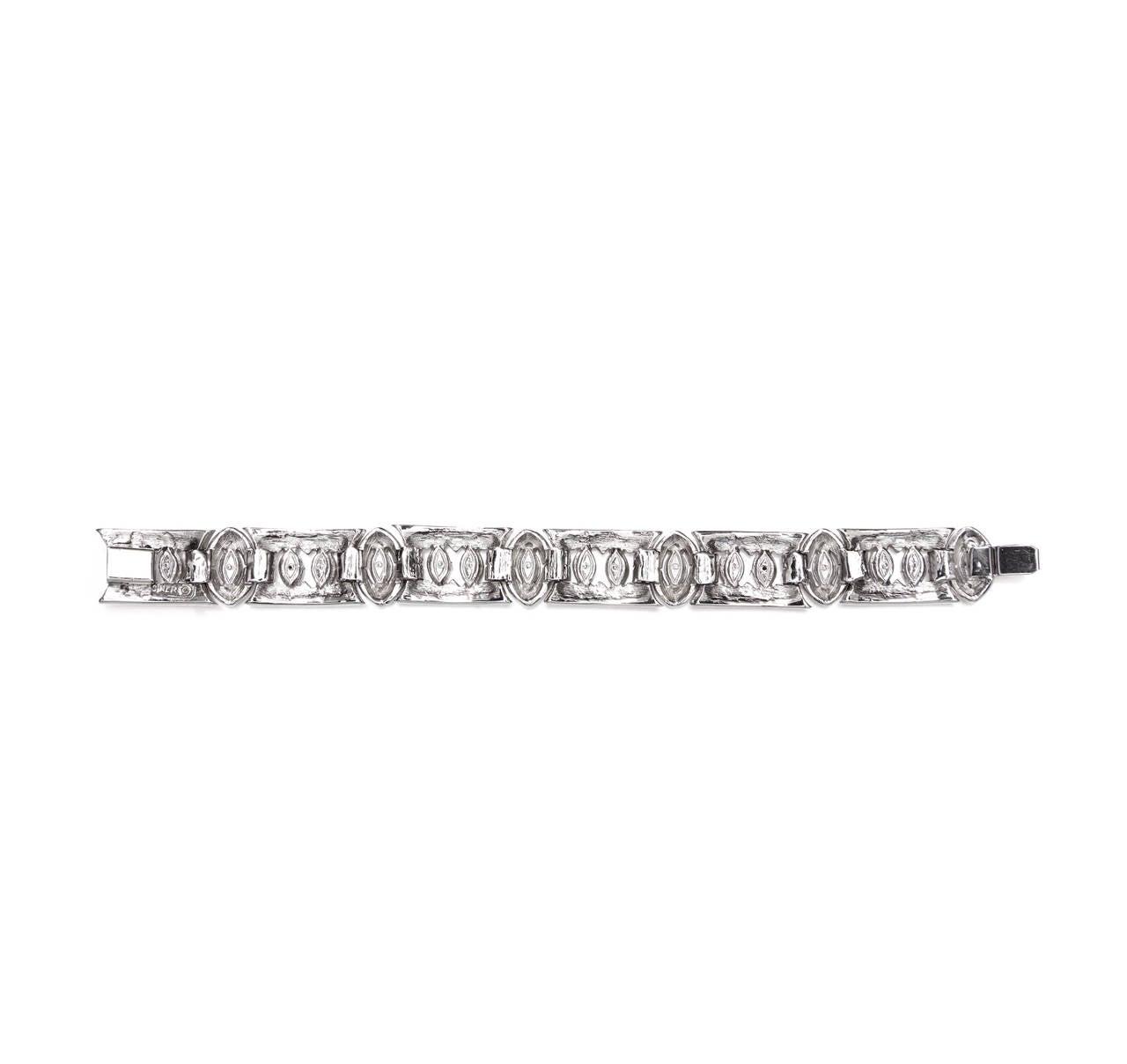 Vintage Ciner Art Deco Bracelet In Excellent Condition For Sale In London, GB