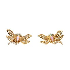 Vintage 1980's Givenchy Dragonfly Earrings