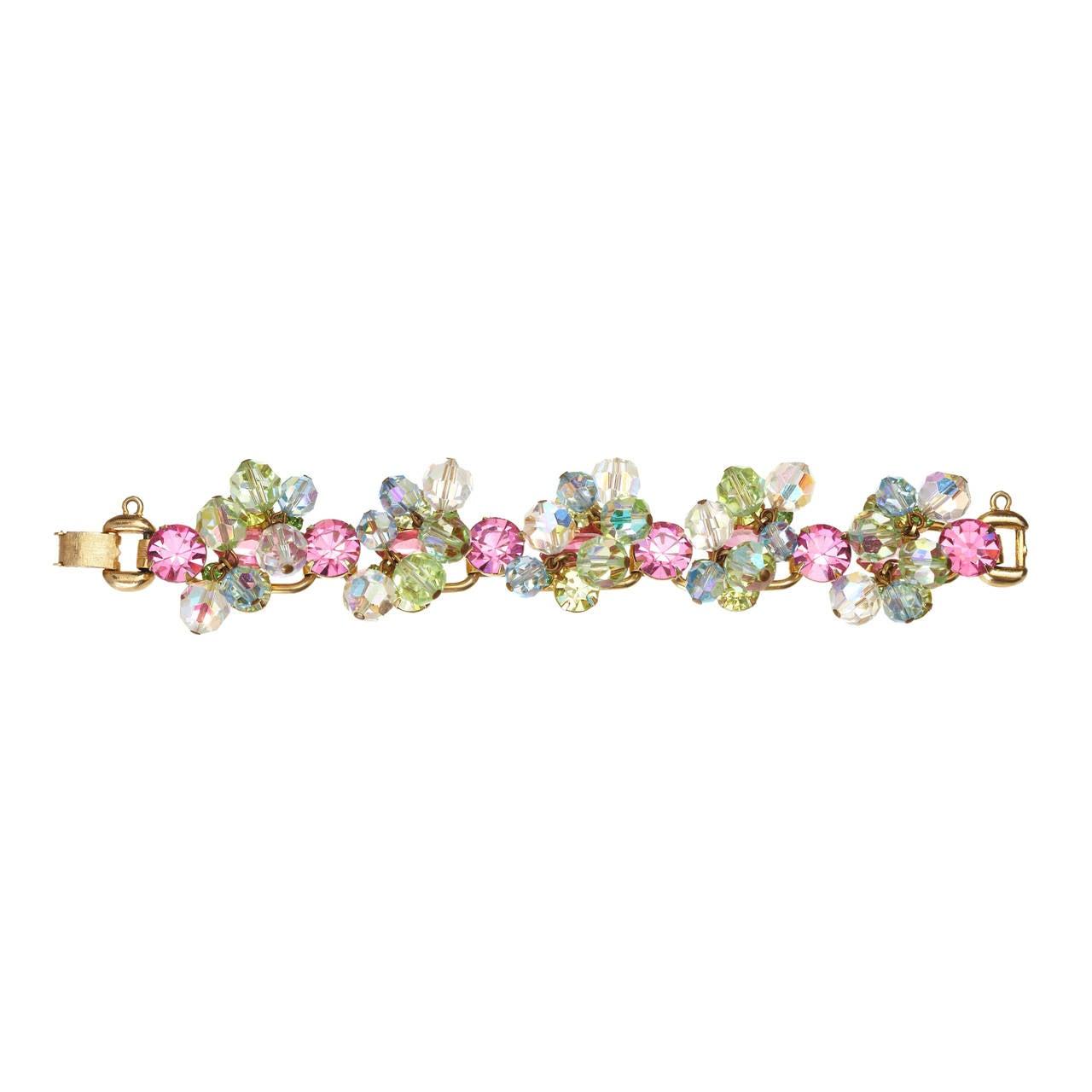 Vintage Juliana Pastel Bracelet For Sale