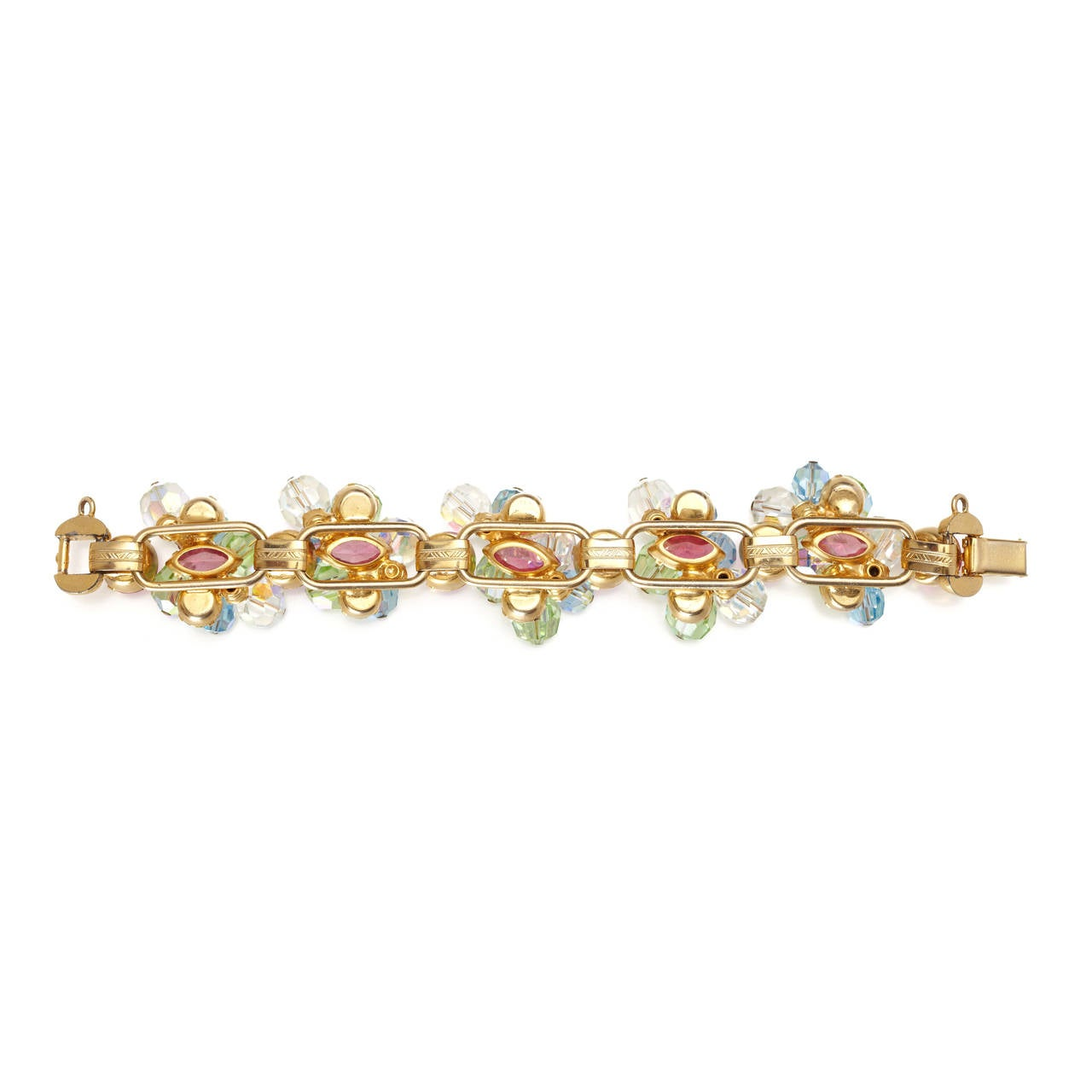 Vintage Juliana Pastel Bracelet In Excellent Condition For Sale In London, GB