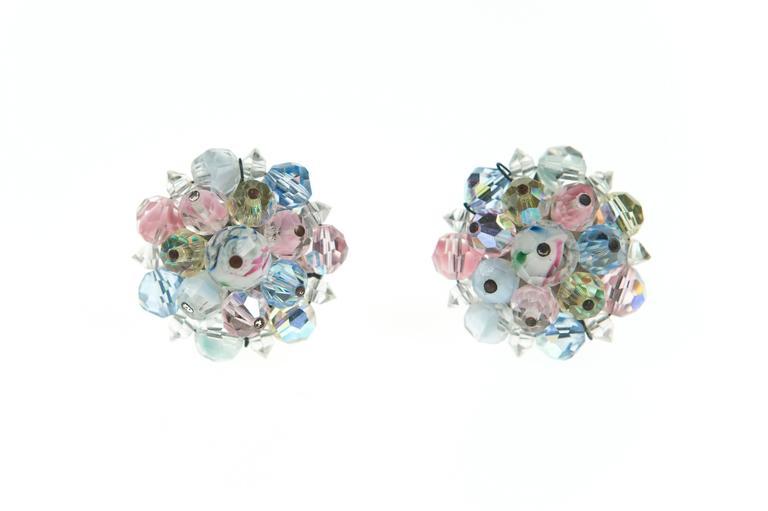 Vintage Laguna Pastel Necklace & Earrings 5