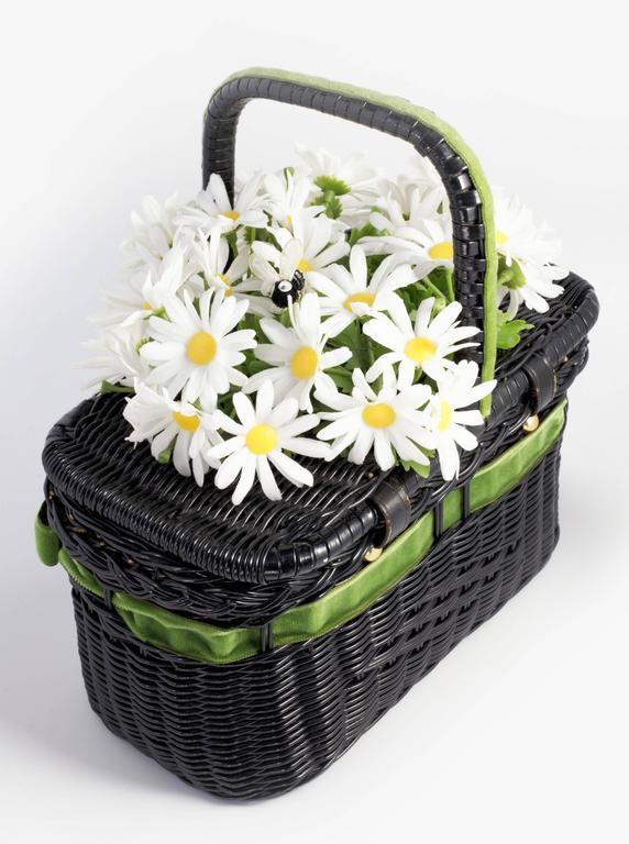"""Vintage """"Basket of Daisies"""" Novelty Bag 2"""