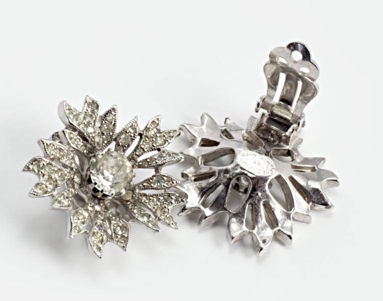 Vintage Mitchel Maer for Christian Dior Flower Earrings 2