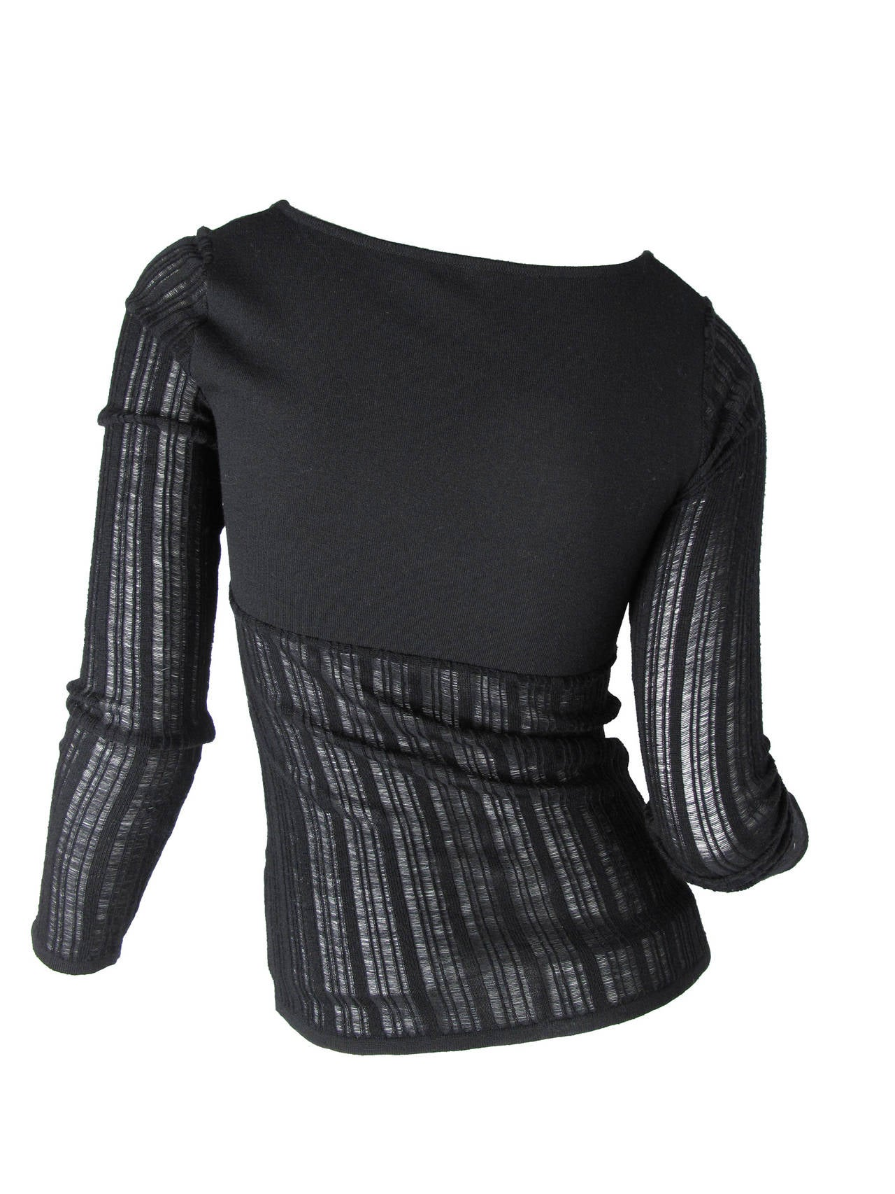 Black Gianni Versace knit sweater For Sale