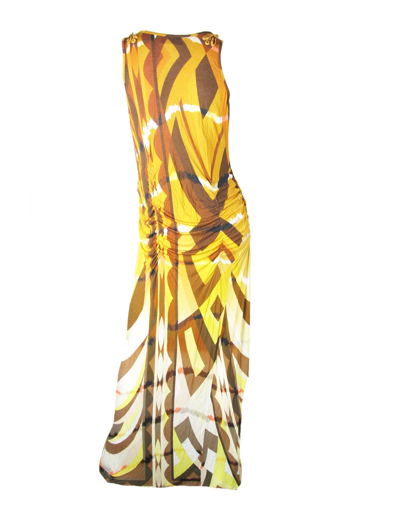 Emilio Pucci rayon tie dye tank dress. 34