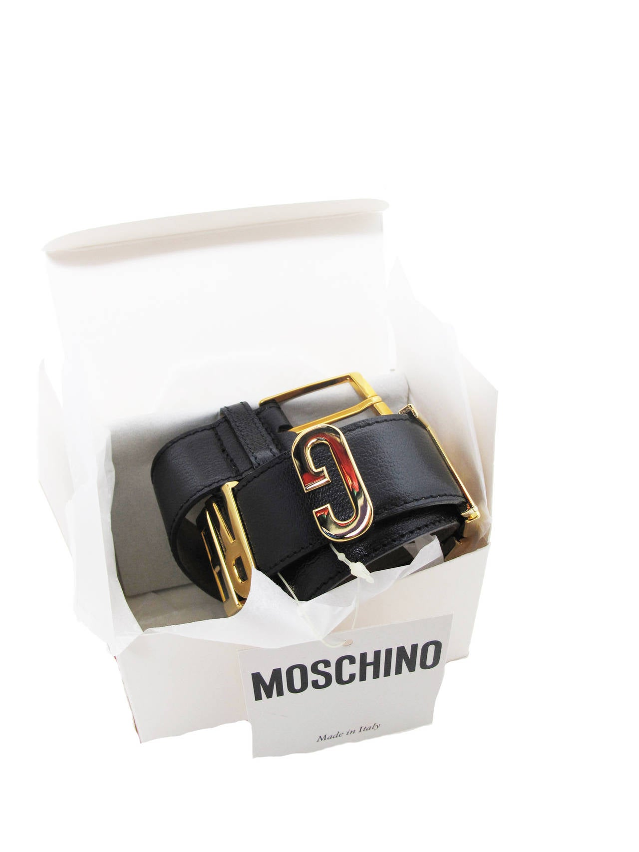 "Rare Moschino 1990s ""I FEEL GREAT"" Moveable Letters Waist Belt - small In Excellent Condition For Sale In Austin, TX"