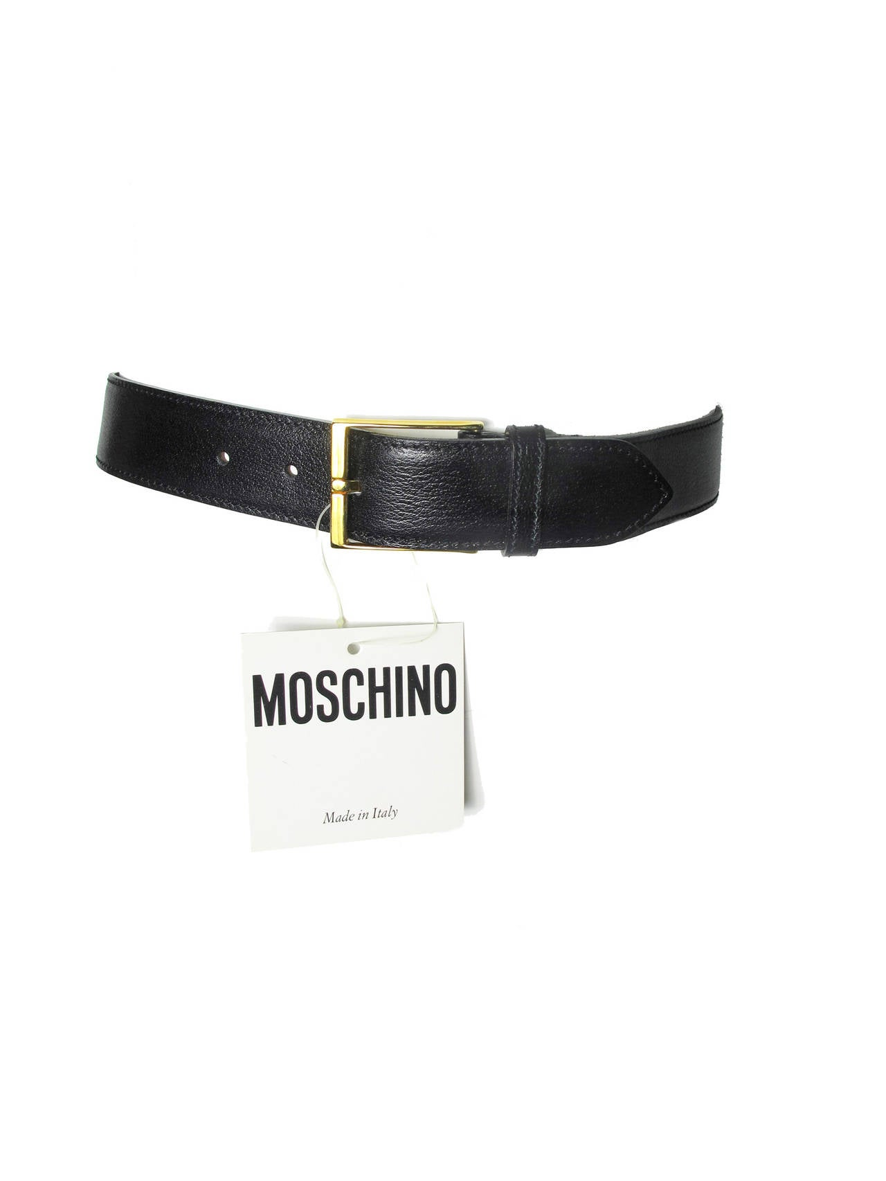 "Women's Rare Moschino 1990s ""I FEEL GREAT"" Moveable Letters Waist Belt - small For Sale"