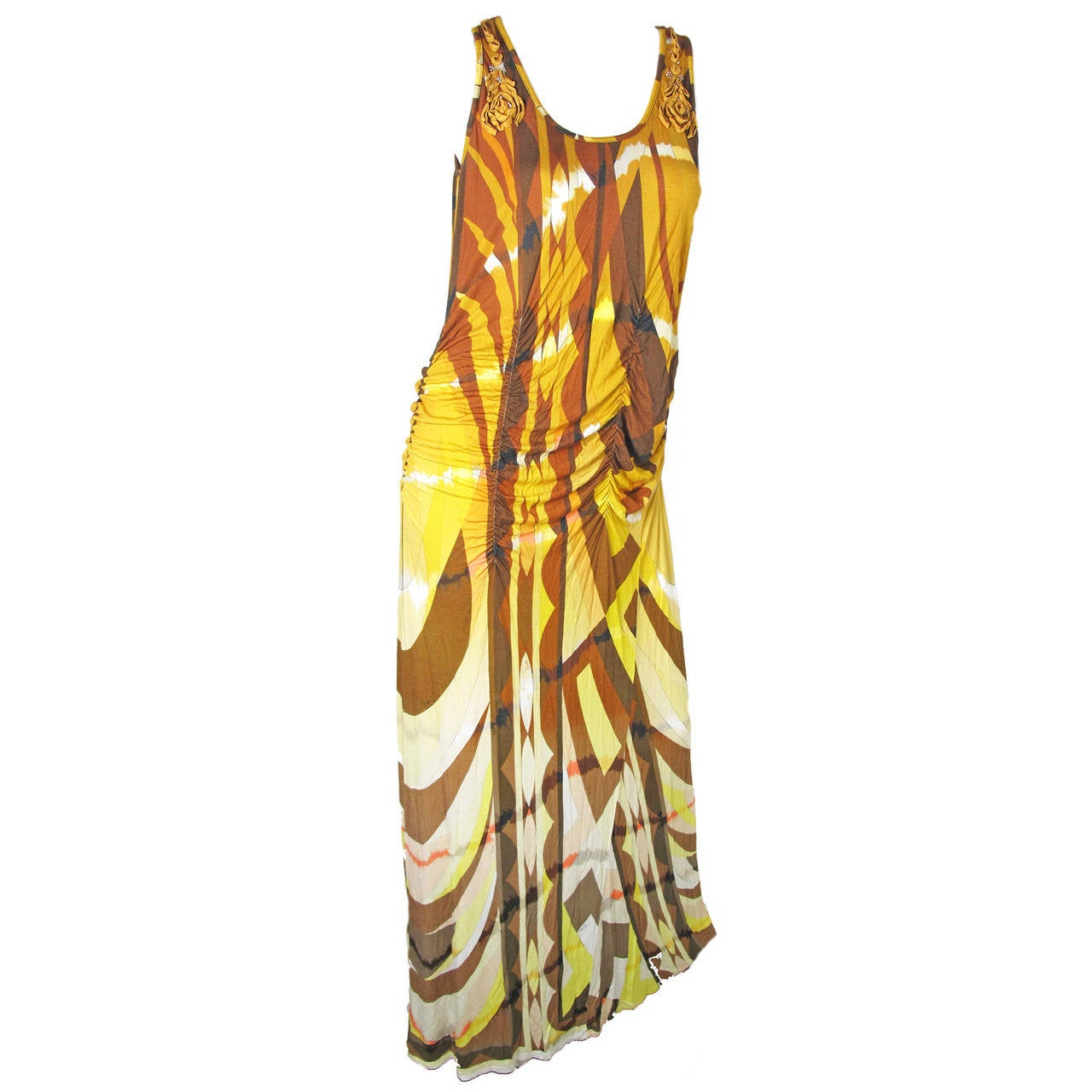Emilio Pucci Tie Dye Tank Maxi Dress For Sale At 1stdibs