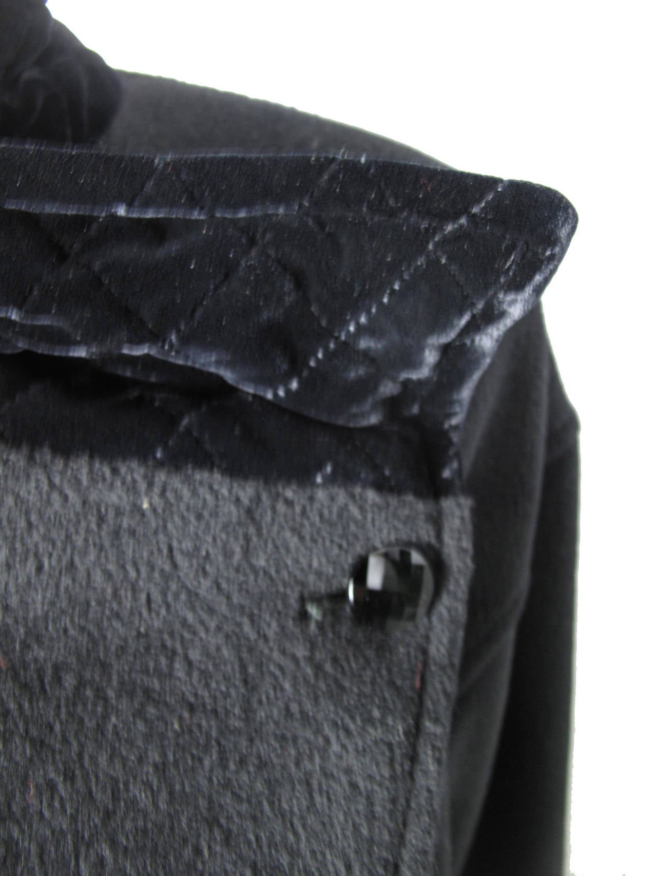 Black Ungaro Wool and Velvet Jacket For Sale