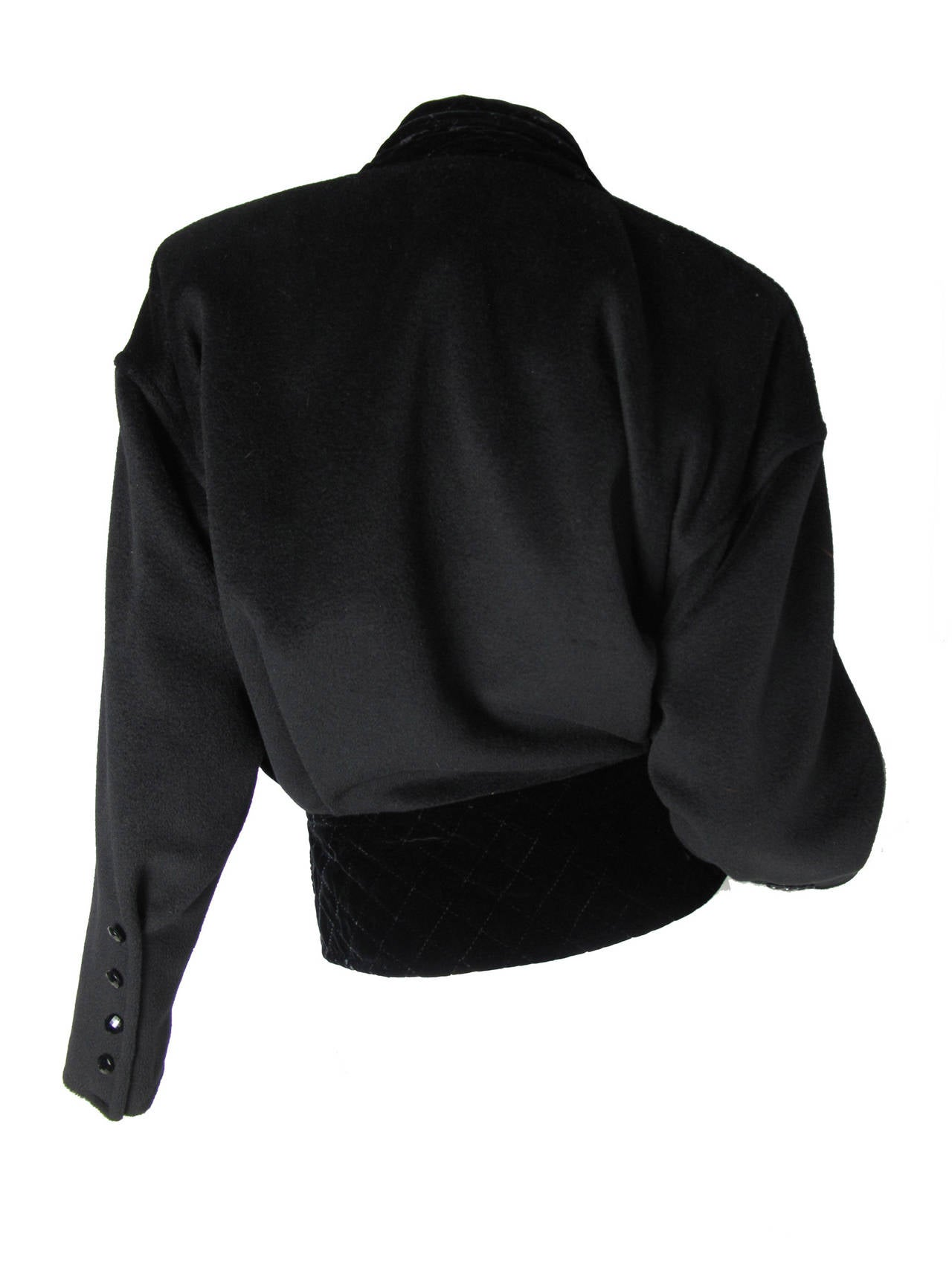 Women's Ungaro Wool and Velvet Jacket For Sale