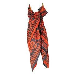 1980s Versace silk Scarf