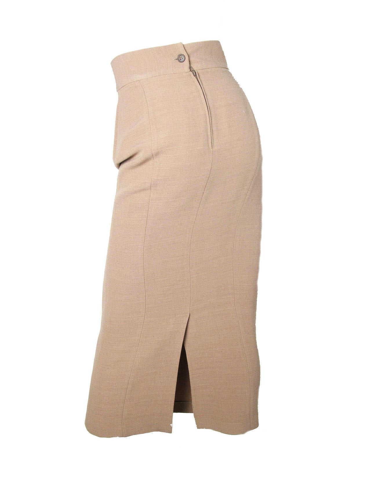 dolce and gabbana pale taupe pencil skirt at 1stdibs