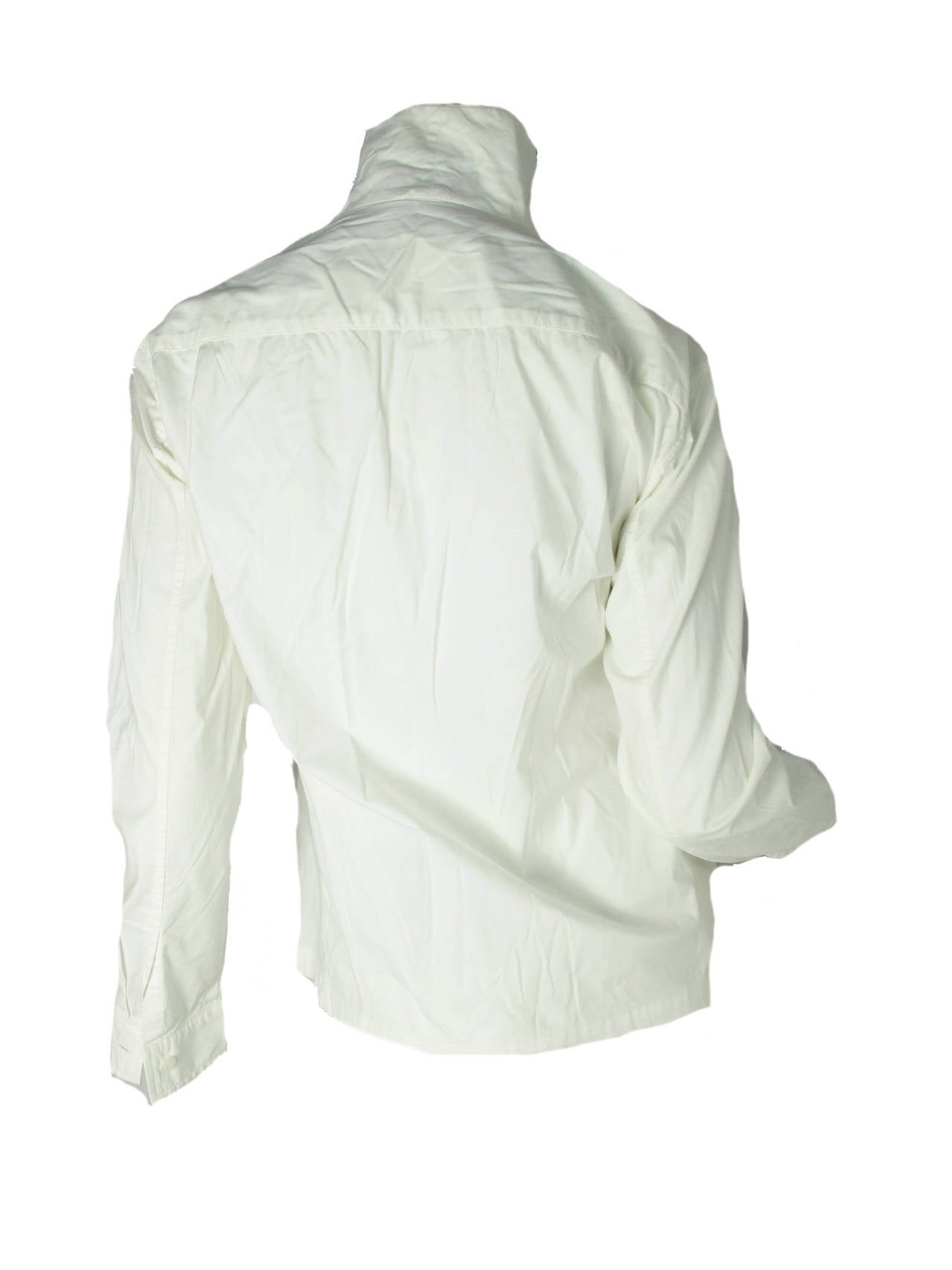 Gray Issey Miyake White Button Down Shirt For Sale