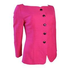 Yves Saint Laurent Rive Gauche Hot Pink Suit - sale