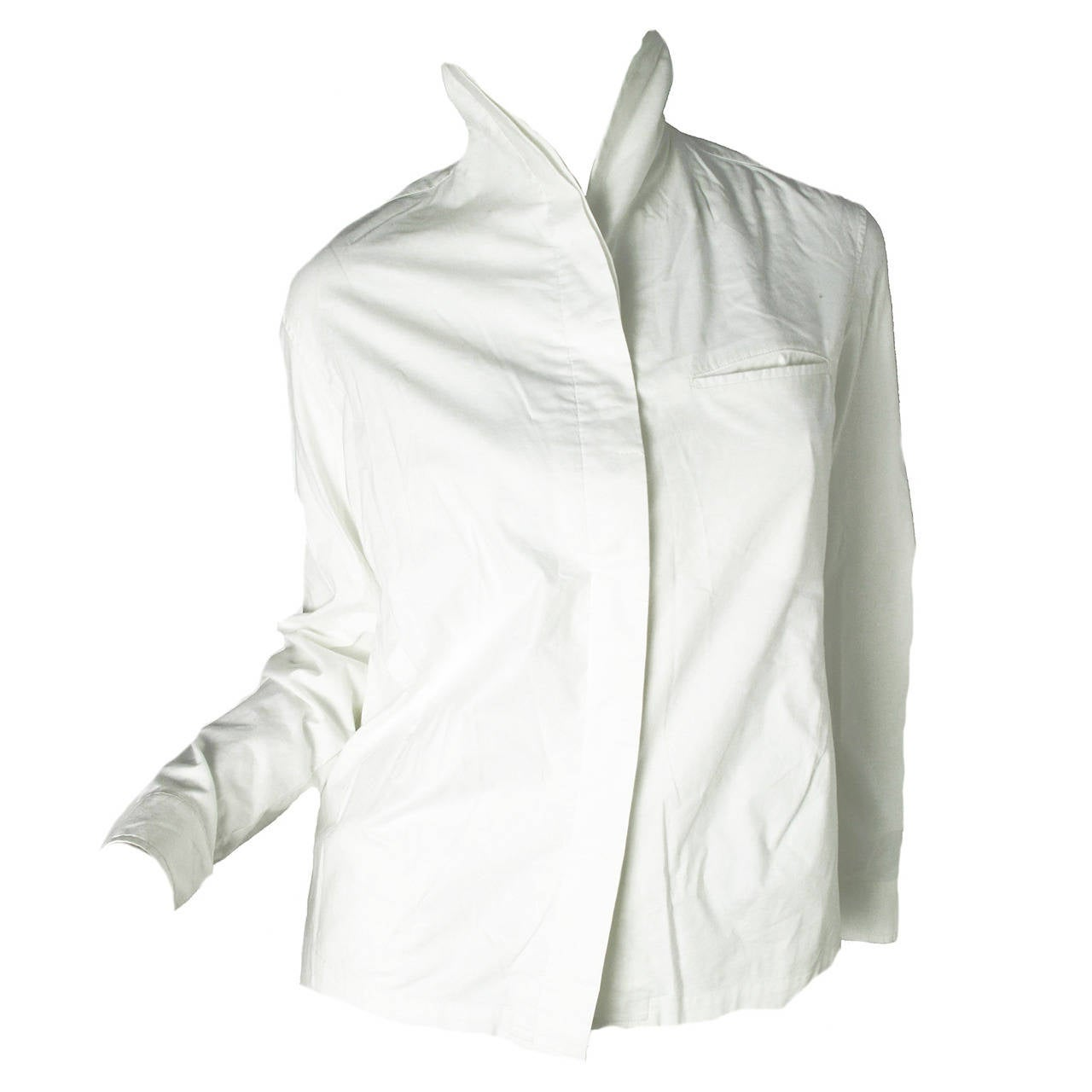 Issey Miyake White Button Down Shirt For Sale