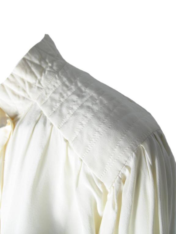 Beige Krizia Silk Blouse For Sale