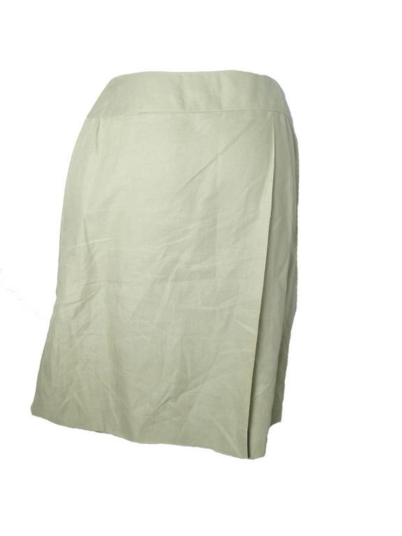 Beige Chanel Linen Wrap Skirt  For Sale