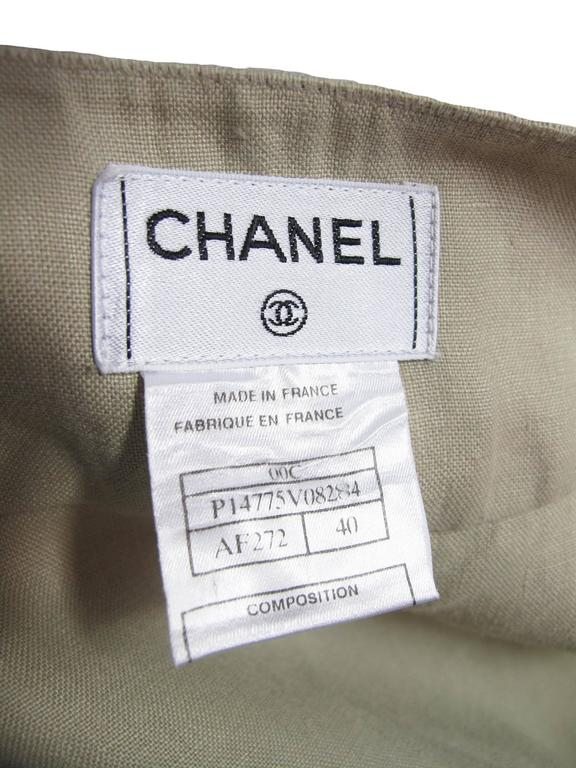 Chanel Linen Wrap Skirt  In Excellent Condition For Sale In Austin, TX