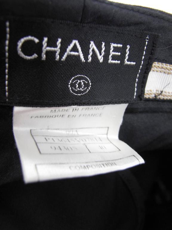 Women's Chanel Black Trousers For Sale