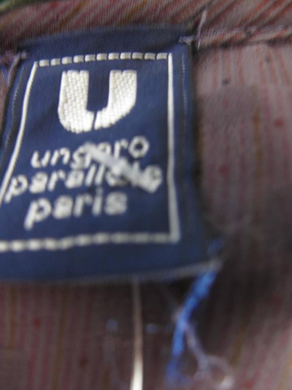 Gray 1970s Ungaro Silk Blouse  For Sale