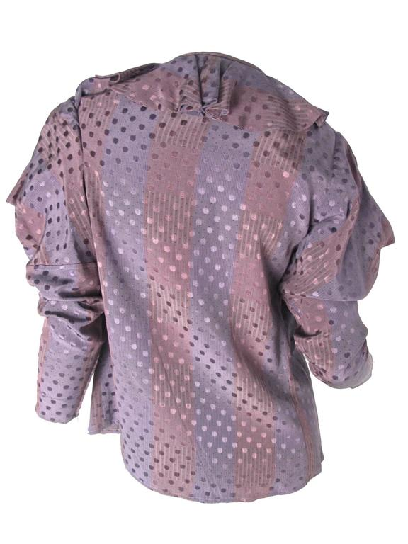 1970s Ungaro Silk Blouse  In Excellent Condition For Sale In Austin, TX