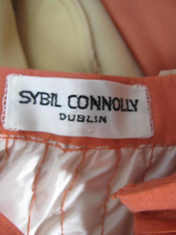 Sybil Connolly Lace Blouse and Pleated Irish Linen Skirt, 1960s Couture In Excellent Condition For Sale In Austin, TX
