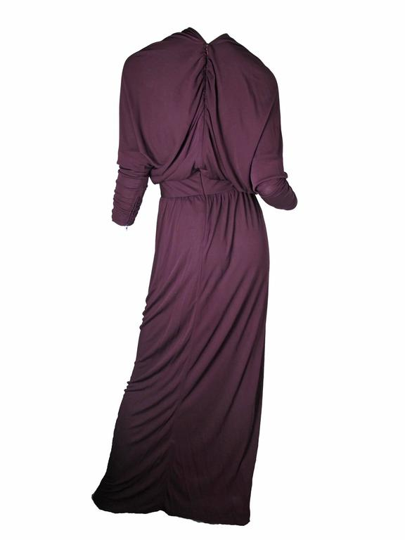 Black Givenchy Evening Gown, Early 1970s For Sale