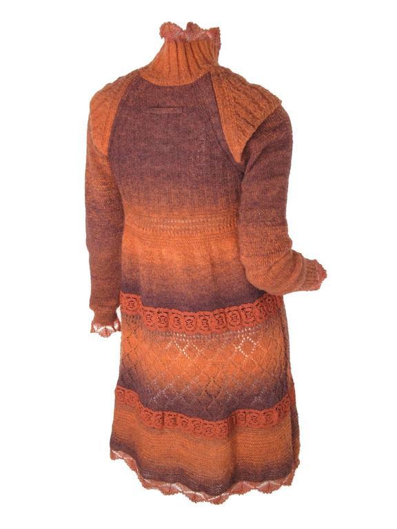 Pink Jean Paul Gaultier Sweater Dress For Sale