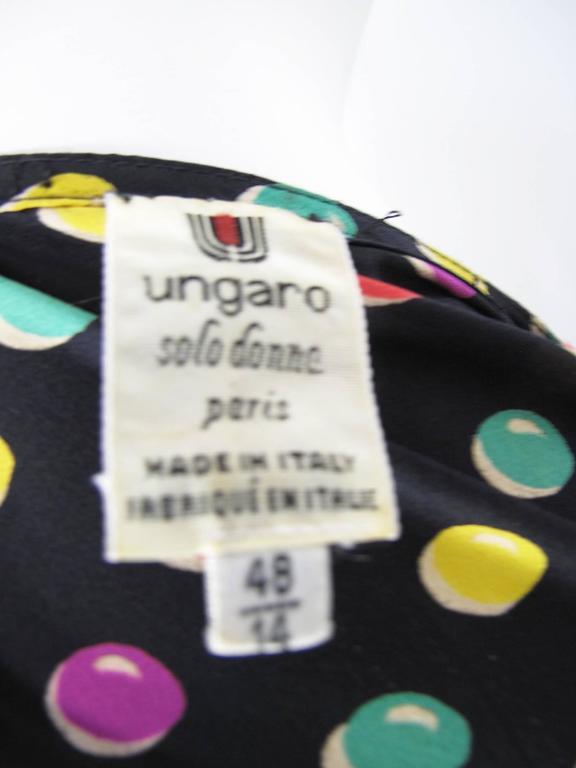 Black Ungaro Silk Printed Dress For Sale
