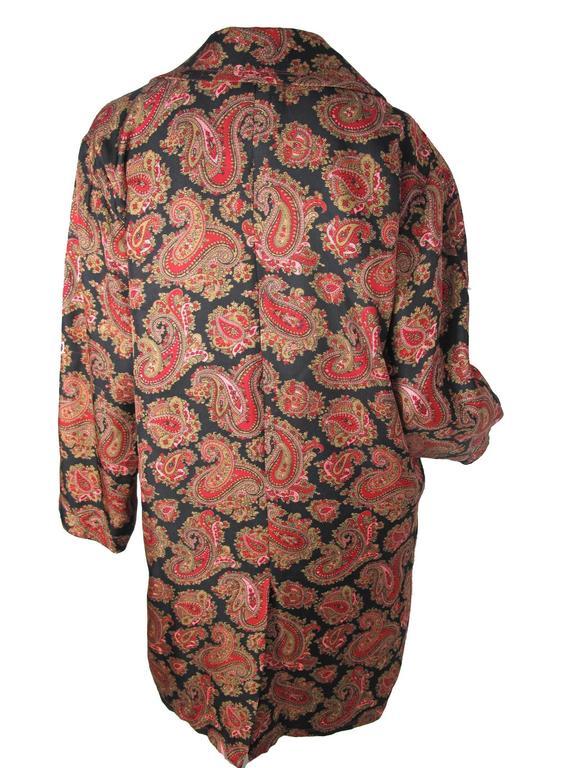 Jean Muir Silk Paisley Coat 3