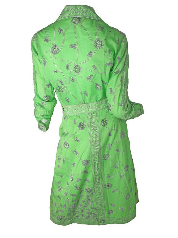 1960s Emilio Pucci Green Cotton Skirt and Blouse -sale 3