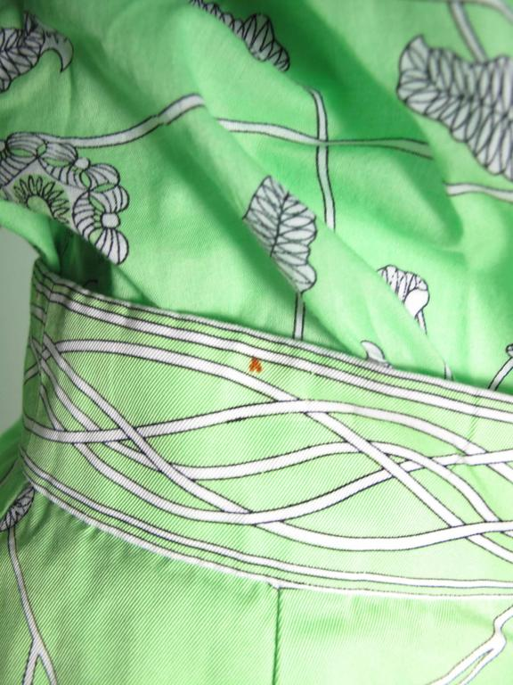 1960s Emilio Pucci Green Cotton Skirt and Blouse -sale 5
