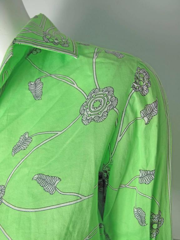 1960s Emilio Pucci Green Cotton Skirt and Blouse -sale 6