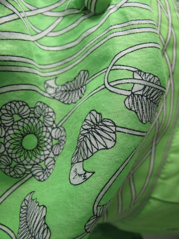 1960s Emilio Pucci Green Cotton Skirt and Blouse -sale 2